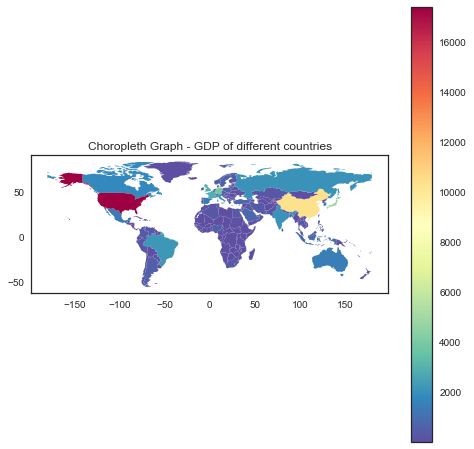 choropleth maps, choropleth graphs, data visualization techniques, python, big data, machine learning